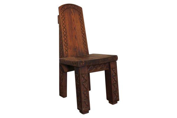 chaise vintage chêne africaniste