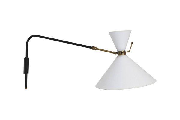 applique diabolo lampe lunel vintage 1950