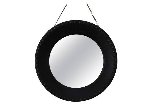 miroir adnet laiton ski cuir vintage sorcière convexe