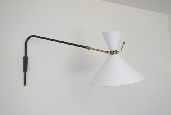 Arlus wall lamp applique pivotante 1950s french design